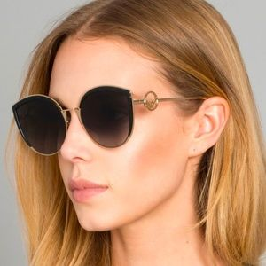 NWT Fendi 0290S - 8079O Black Gold Sunglasses
